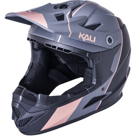 Kali Zoka Stripe Helm Jugend matt black/bronze